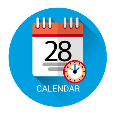 calendar page: Calendar Page Business Icon Flat Vector Illustration
