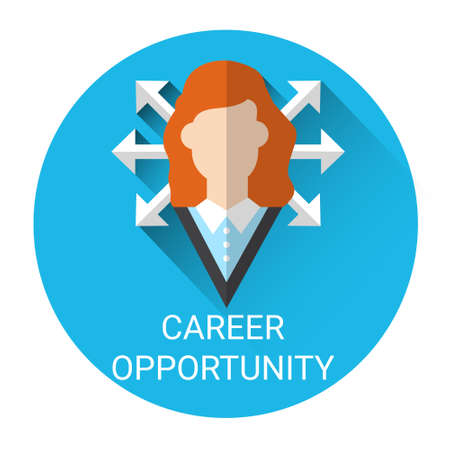 opportunity: Business Career Opportunity Icon Flat Vector Illustration Illustration