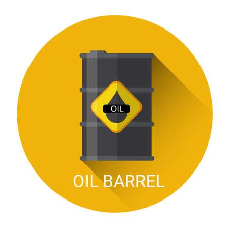 Olie vat pictogram Kleurrijke platte vectorillustratie