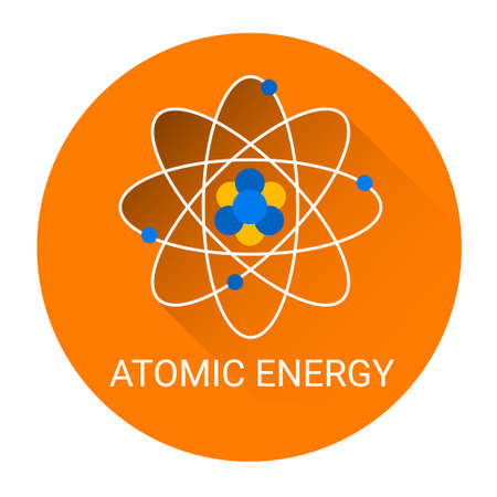 atomic energy: Atomic Energy Icon Flat Colorful Vector Illustration Illustration