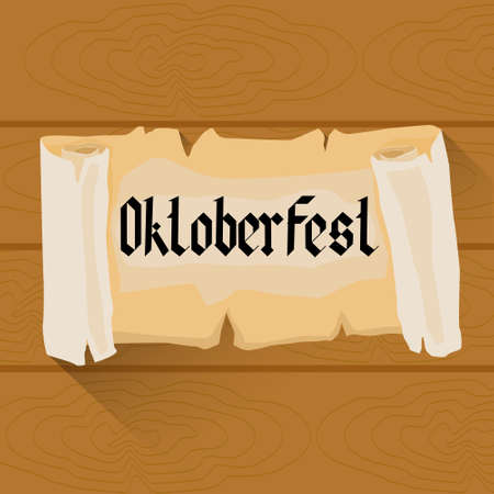 patric banner: Beer Oktoberfest Festival Holiday Decoration Banner Flat Vector Illustration Illustration