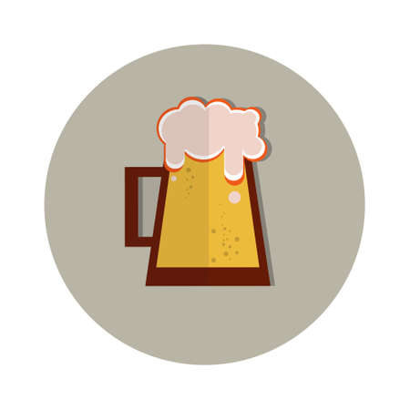 patric icon: Oktoberfest Festival Glass Mug Beer Icon Vector Illustration Illustration