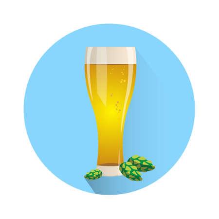 Oktoberfest Festival Glass Mug Beer Icon Vector Illustration Illustration
