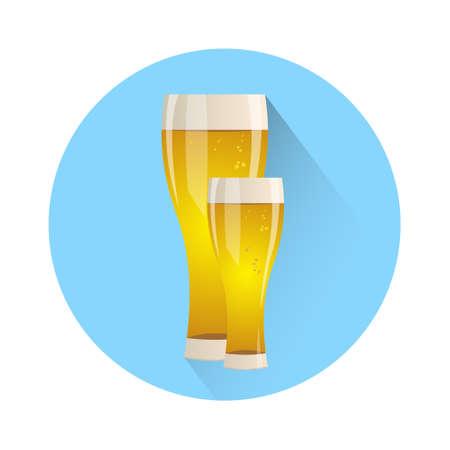 Oktoberfest Festival Two Glass Mug Beer Icon Vector Illustration