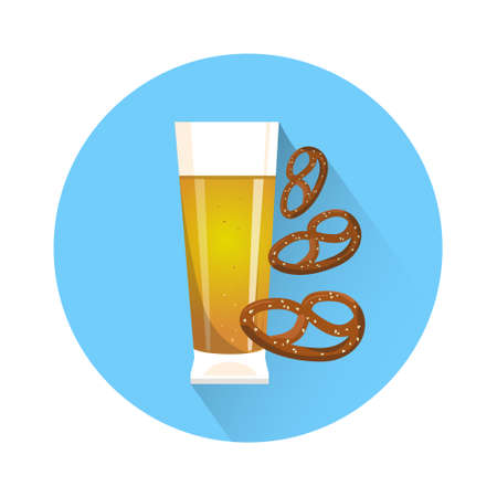 Oktoberfest Festival Glass Mug Beer Icon Vector Illustration Illustration