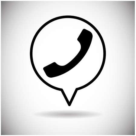 phone handset: Phone Handset Receiver Web Icon Flat Vector Illustration