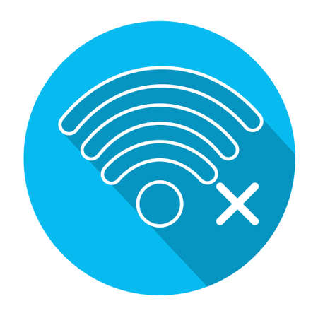 wireless connection: Wifi Signal Icon No Wireless Connection Flat Vector Illustration Illustration