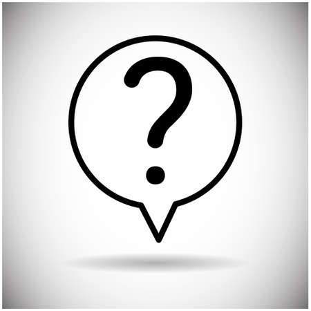 Question Mark Chat Bubble Icon Flat Vector Illustration
