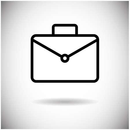 business case: Briefcase Icon Business Case Flat Design Vector Illustration Illustration