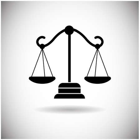 Balance Scale Web Icon Flat Vector Illustration
