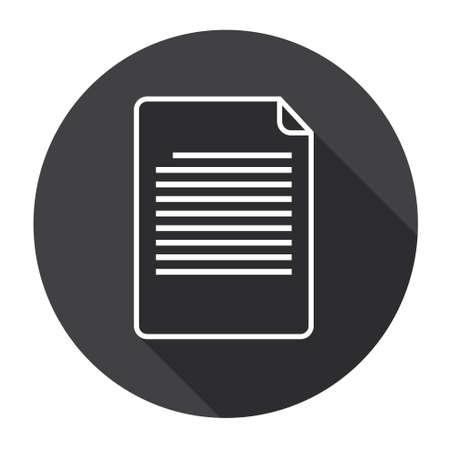 filling folder: Paper Sheet Document Contract Web Icon Flat Vector Illustration Illustration