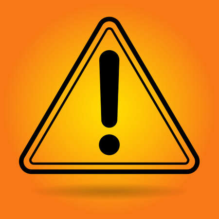 Caution Safety Sign Icon Flat Vector Illustration