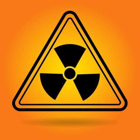 health threat: Radiation Safety Sign Icon Flat Vector Illustration