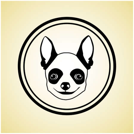 little one: Small Dog Animal Pet Web Icon Flat Vector Illustration