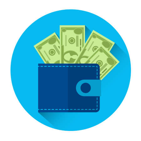 money wallet: Money Wallet Icon Business Investment Concept Flat Vector Illustration