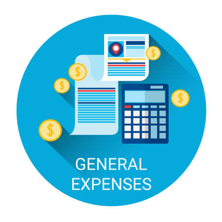 expenses: General Expenses Budget Planning Business Icon Flat Vector Illustration Illustration