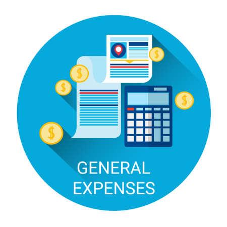 General Expenses Budget Planning Business Icon Flat Vector Illustration Ilustração
