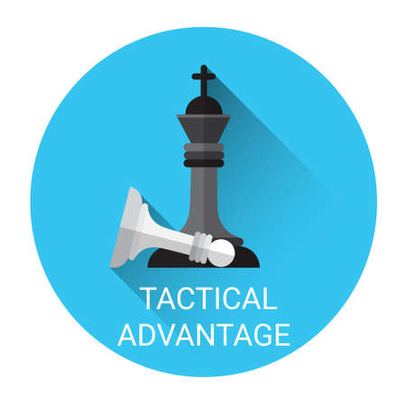 tactical: Tactical Advantage Concept Business Strategy Icon Flat Vector Illustration Illustration