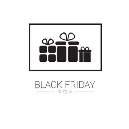 Black Friday Sale Holiday Shopping Banner Copy Space Vector Illustration Ilustrace