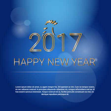 happy new years: Happy New 2017 Year Web Banner Flat Vector Illustration Illustration
