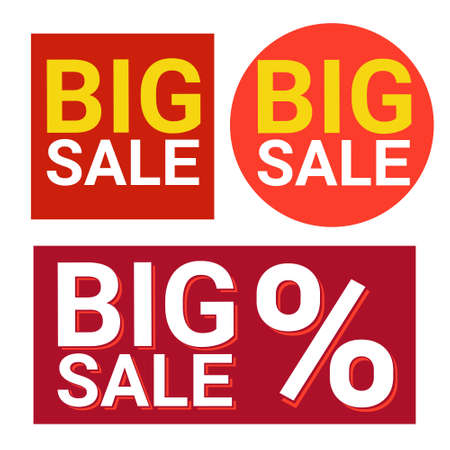 holiday shopping: Black Friday Big Sale Icon Holiday Shopping Banner Vector Illustration Illustration