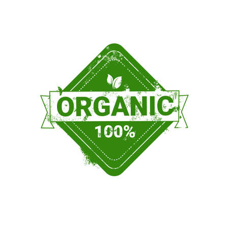 Eco Friendly Organic Natural Product Web Icon Green  Flat Vector Illustration