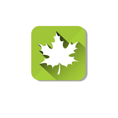 Maple Leaf Eco Organic Environment Clean Care Icon Flat Vector Illustration