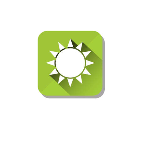 Sun Solar Energy Eco Organic Environment Clean Care Icon Flat Vector Illustration
