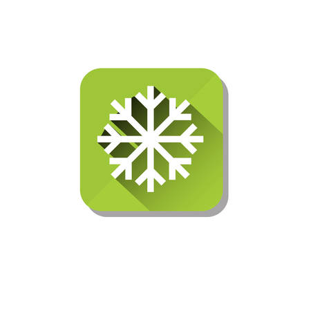 Ice Road Safety Sign Icon Flat Vector Illustration