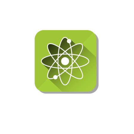 atomic energy: Atomic Energy Ecology Atom Icon Flat Vector Illustration Illustration