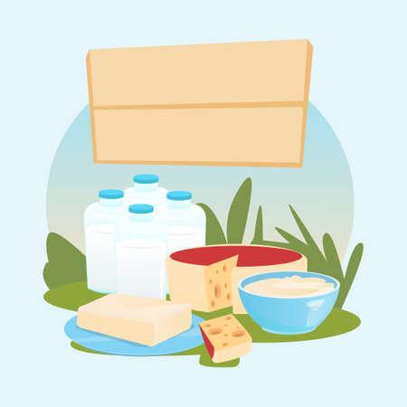 milkman: Milk Dairy Products Eco Fresh Farm Logo Flat Vector Illustration