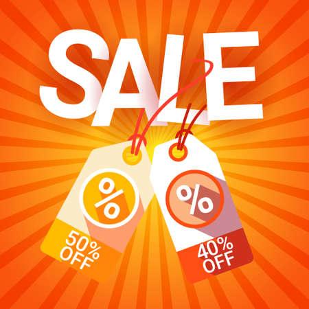 holiday shopping: Black Friday Sale Holiday Shopping Tag Banner Vector Illustration