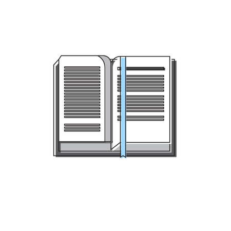 application button: Open Book Icon Web Application Button Vector Illustration