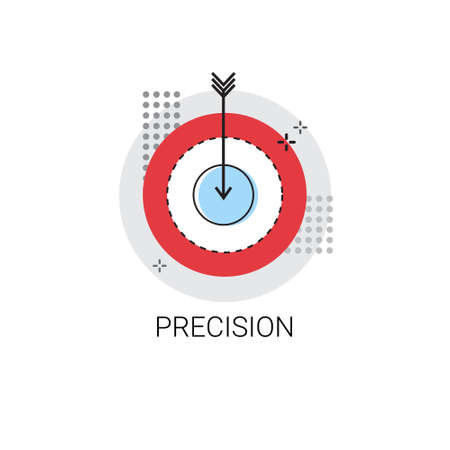 precision: Precision Target Arrow Get Aim Business Concept Icon Vector Illustration