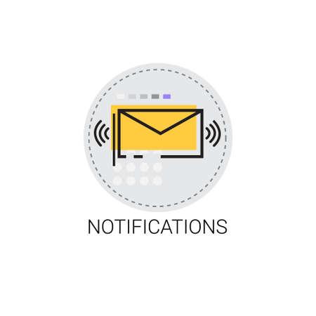 Notification Envelope Email Inbox Message Send Mail Vector Illustration Illustration