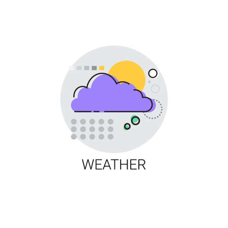 mobile application: Weather Application Mobile Interface Icon Vector Illustration