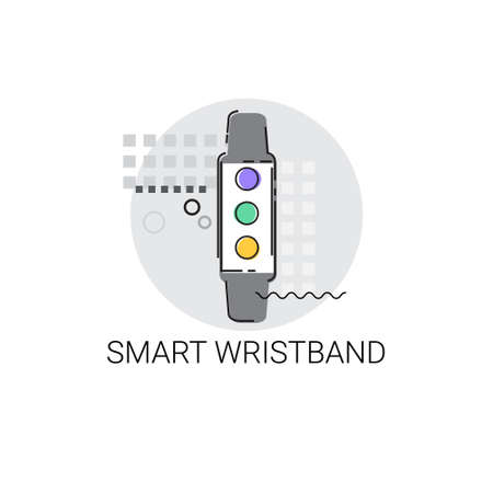 electronic device: Smart Wristband Trecker Technology Electronic Device Vector Illustration