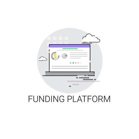 Crowdfunding Business Funding Platform Concept Icon Vector Illustration Illustration