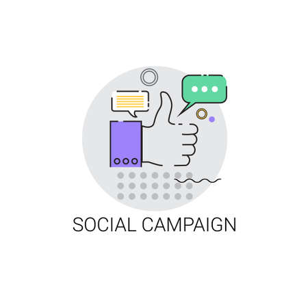campaign: Social Campaign Business Strategy Icon Vector Illustration
