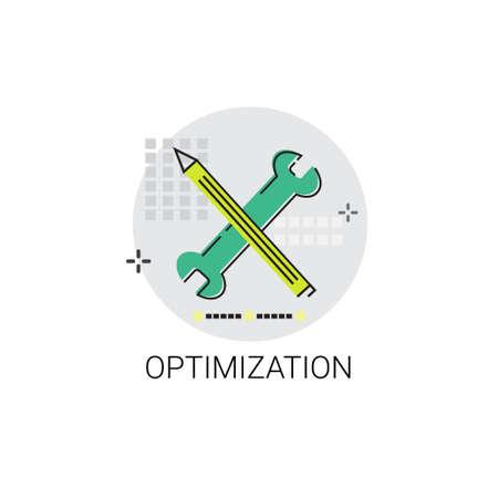 optimisation: Effective Planning Strategy Optimization Business Icon Vector Illustration Illustration