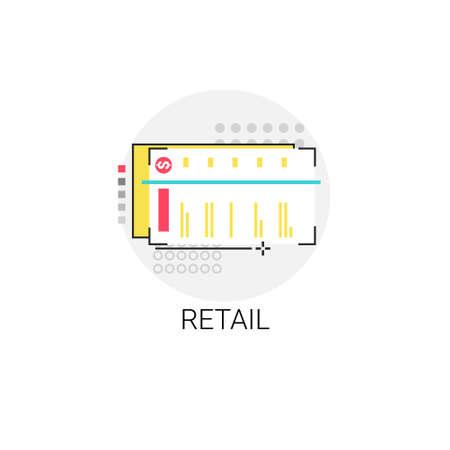 마켓 쇼핑몰 소매점 아이콘 벡터 일러스트 레이션
