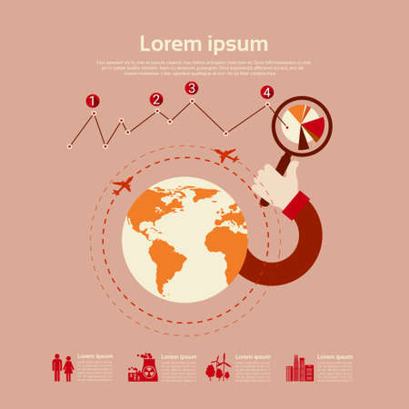 envoronment: Graph Set Environment Diagram Infographic Icon Business Chart Flat Vector Illustration Illustration