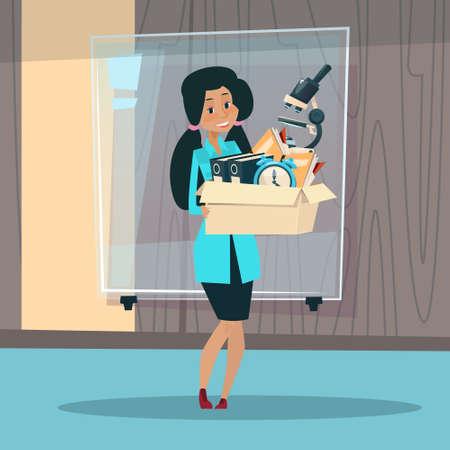 practitioner: Medical Doctor African American Race Woman Practitioner Flat Vector Illustration Illustration