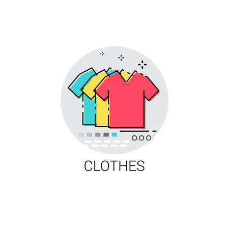 clothing shop: Clothes Fashion Clothing Shop Icon Vector Illustration Illustration