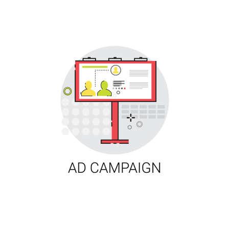 campaign: Ad Campaign Content Marketing Optimization Icon Vector Illustration Illustration