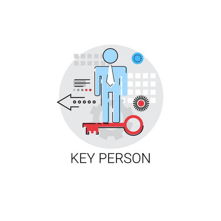 potential: Key Person Worker Potential Business Concept Vector Illustration