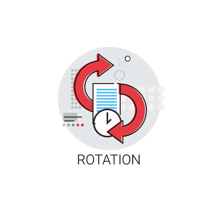 Rotation Update Application Process Icon Vector illustration Illustration