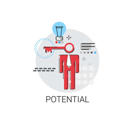 creative potential: Potential New Creative Idea Business Concept Vector Illustration