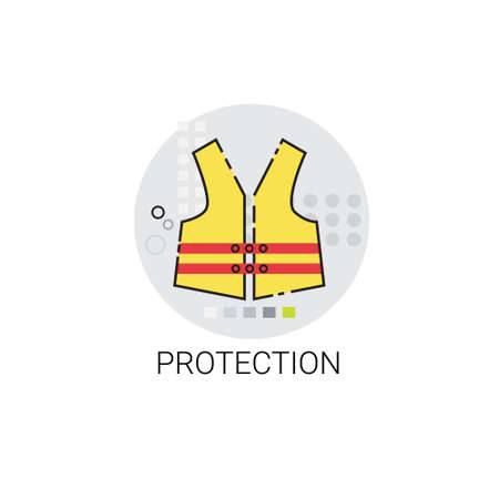 workman: Workman Protection Clothes Building Construction Engineering Icon Vector Illustration