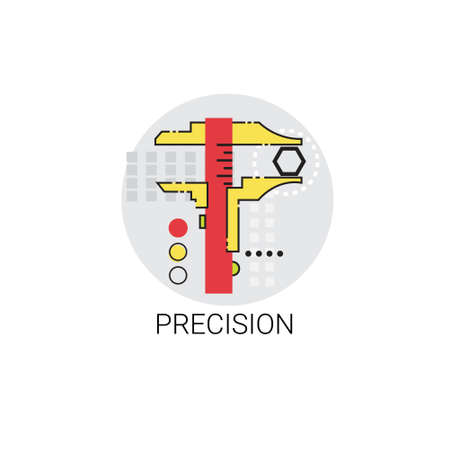 precision: Precision Industry Production Quality Icon Vector Illustration Illustration